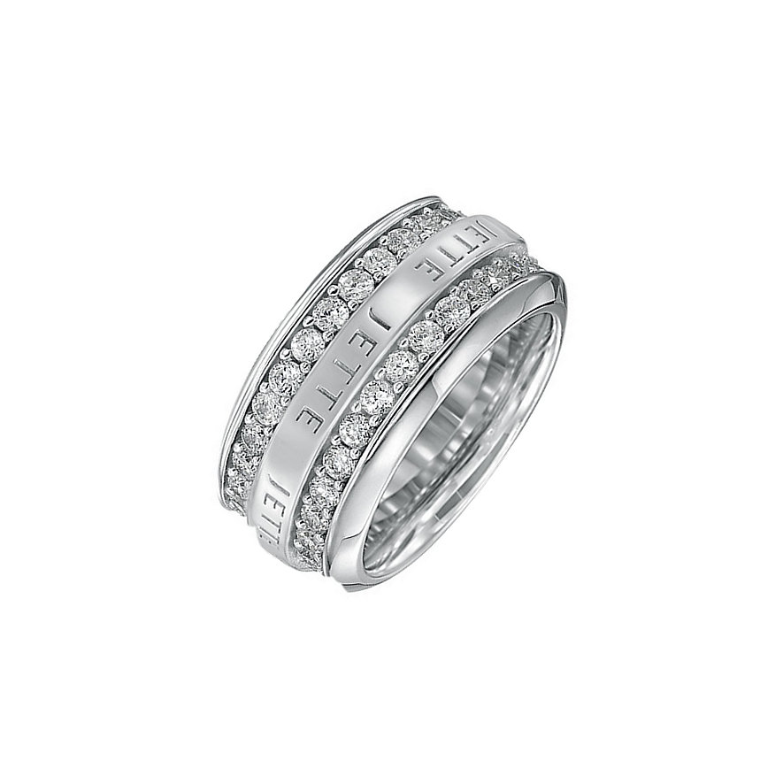 JETTE Silver Damenring Round About 30990554