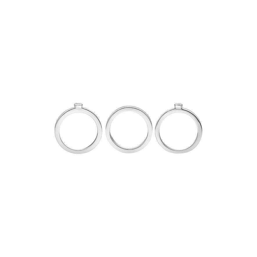 JETTE Silver Damenring Stacking Rings