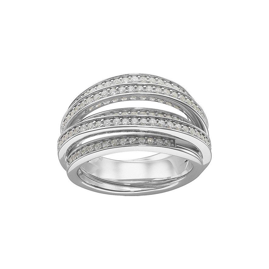 JETTE Silver Damenring Swirl 31199941