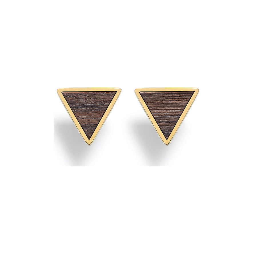 Kerbholz Ohrstecker Triangle Sandalwood Shiny GEOTRI1163