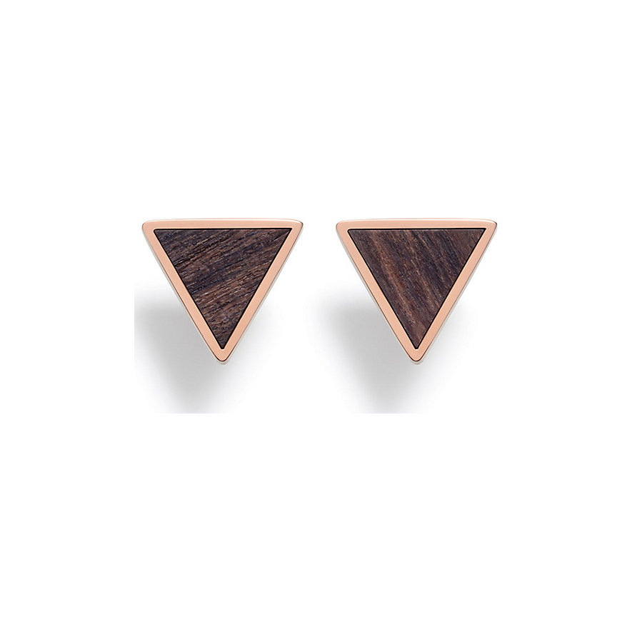 Kerbholz Ohrstecker Triangle Sandalwood Shiny GEOTRI1170