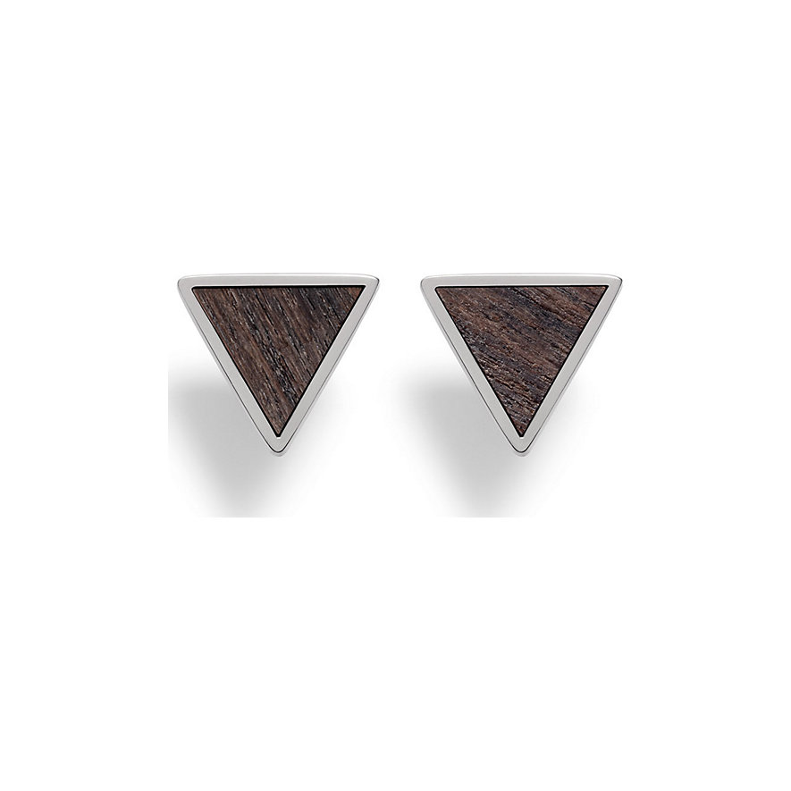 Kerbholz Ohrstecker Triangle Sandalwood Shiny GEOTRI1187