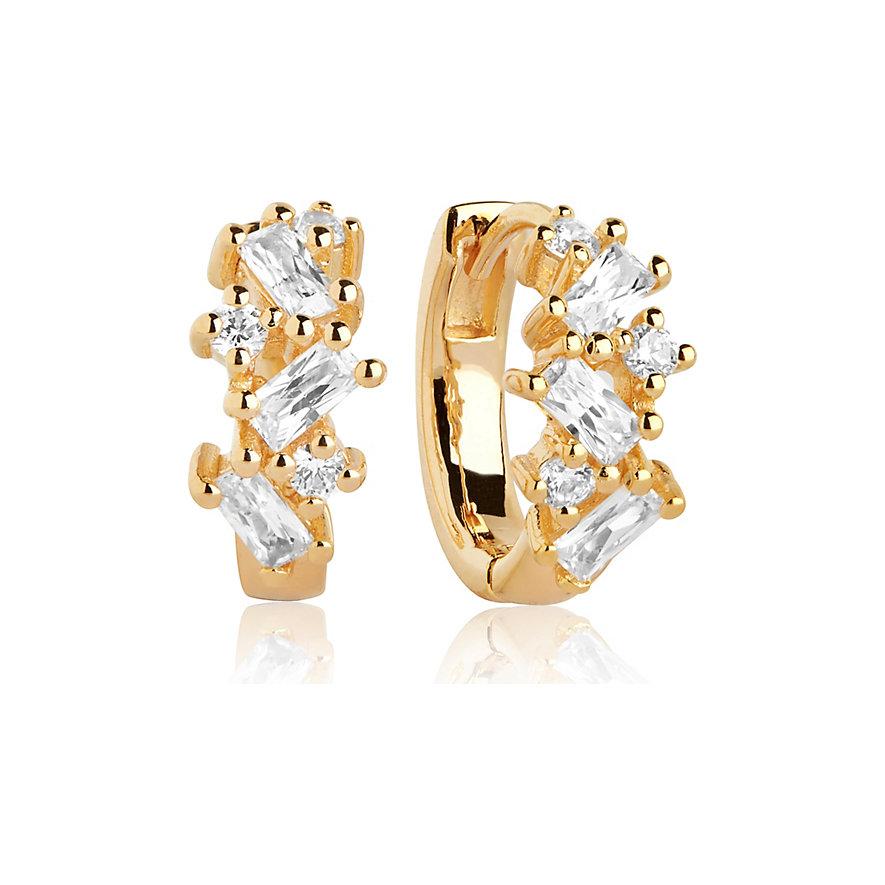 Sif Jakobs Jewellery Creole Antella Creolo Piccolo SJ-E1076-CZ-YG