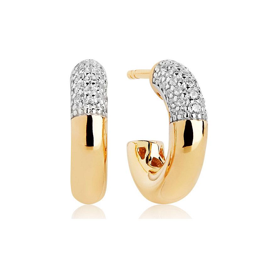 Sif Jakobs Jewellery Creole Cannara Piccolo SJ-E2998-CZ-YG