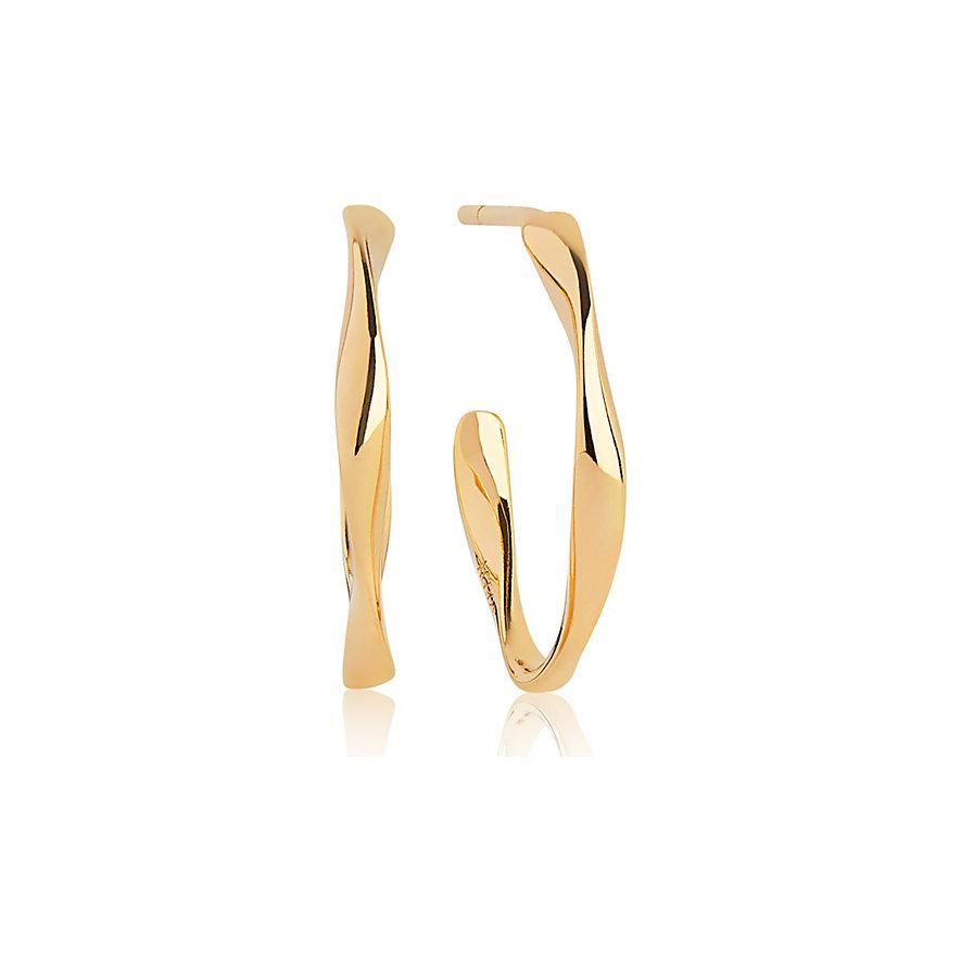 Sif Jakobs Jewellery Creole Cetara Pianura Piccolo SJ-E3004(YG)
