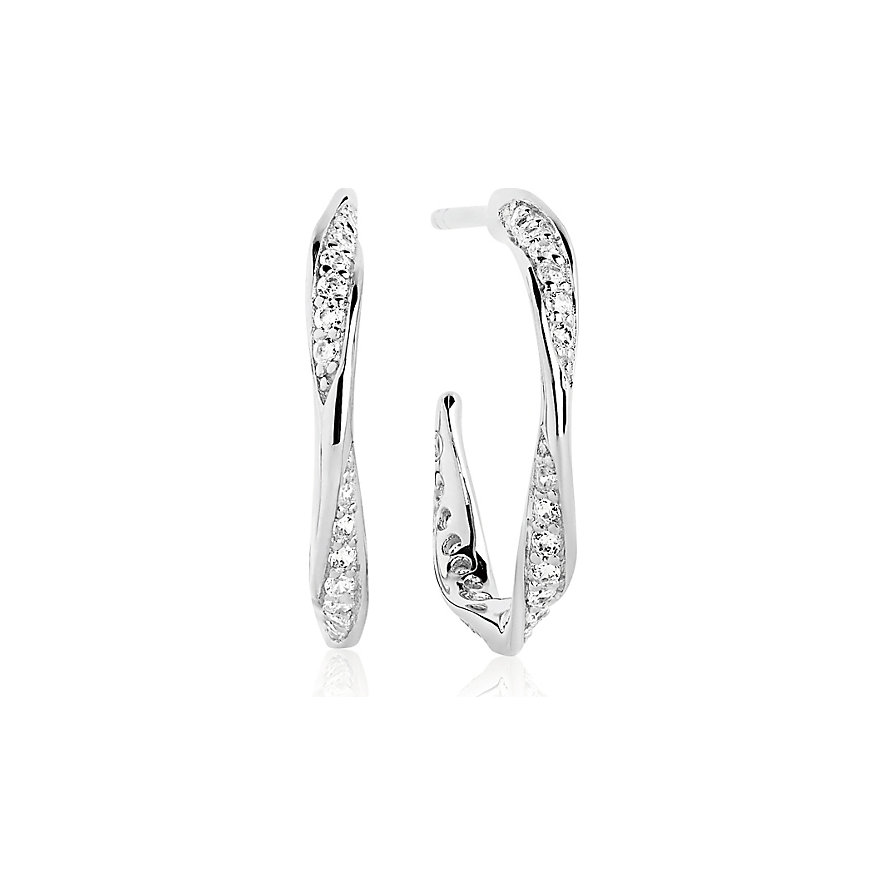Sif Jakobs Jewellery Creole Cetara Piccolo SJ-E3010-CZ