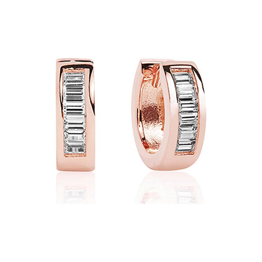 Sif Jakobs Jewellery Creole Corte Baguette SJ-E2462-CZ-RG