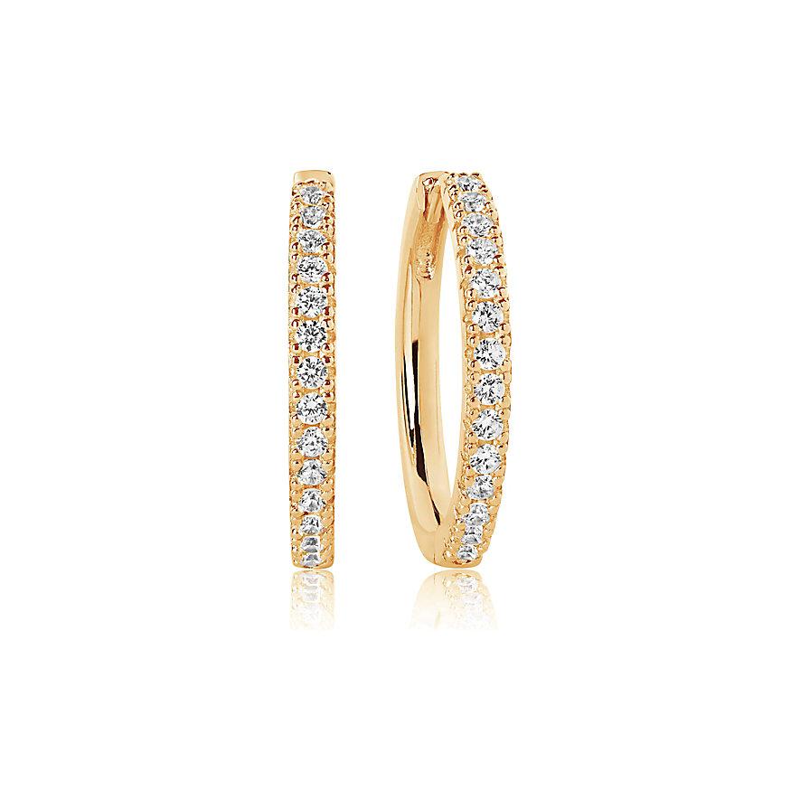 Sif Jakobs Jewellery Creole Ellera Grande SJ-E2869-CZ(YG)