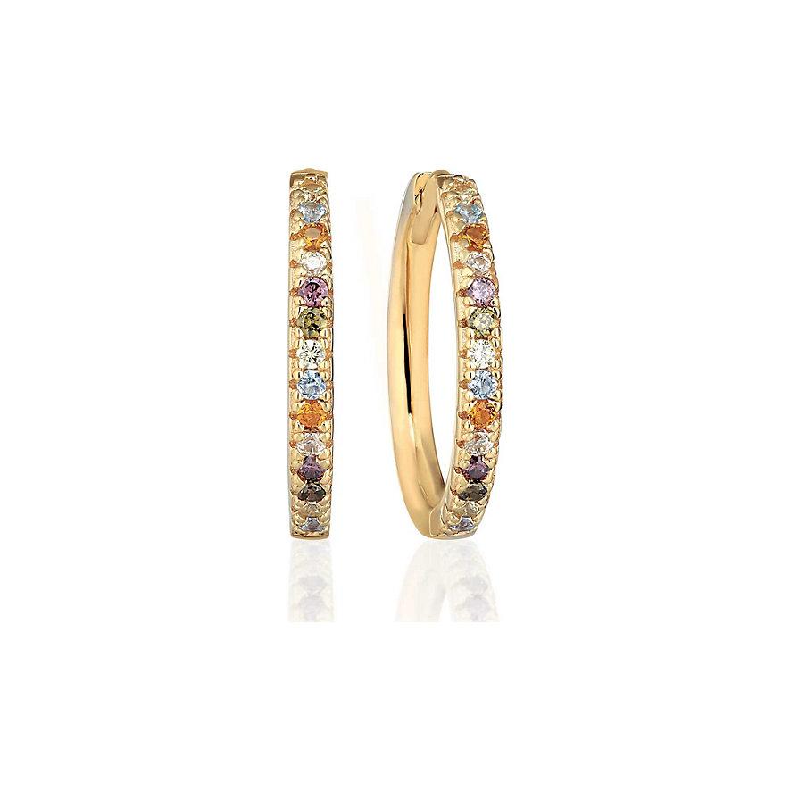 Sif Jakobs Jewellery Creole Ellera Grande SJ-E2869-XCZ(YG)