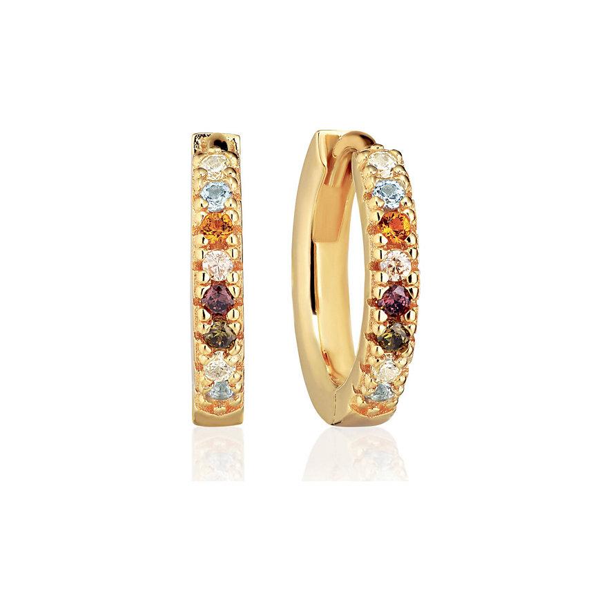 Sif Jakobs Jewellery Creole Ellera SJ-E2859-XCZ(YG)