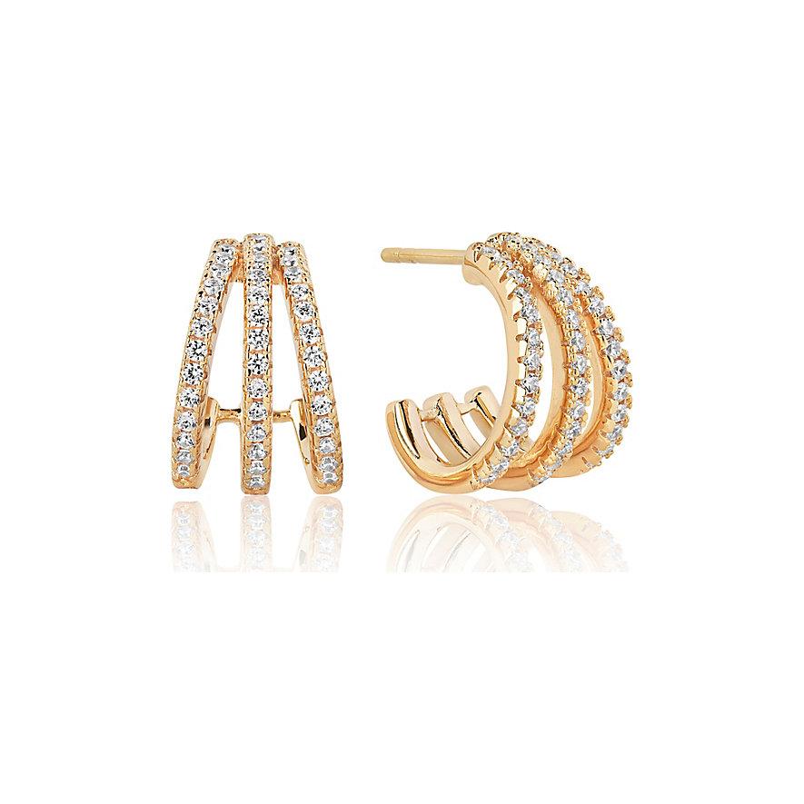 Sif Jakobs Jewellery Creolen SJ-E1068-CZ-YG