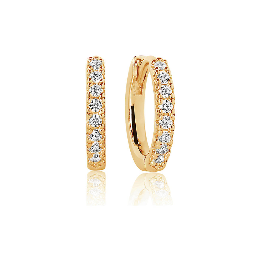 Sif Jakobs Jewellery Creolen SJ-E2859-CZ(YG)