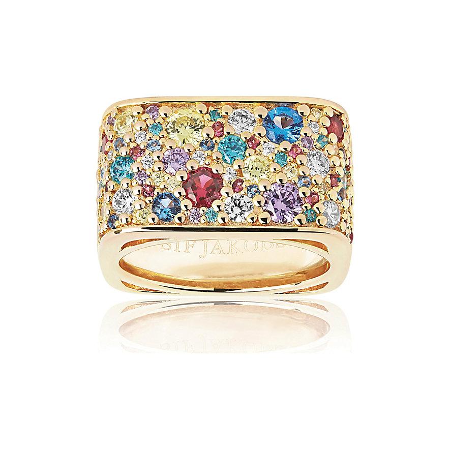 Sif Jakobs Jewellery Damenring Novara Quadrato SJ-R1060-XCZ(YG)/56
