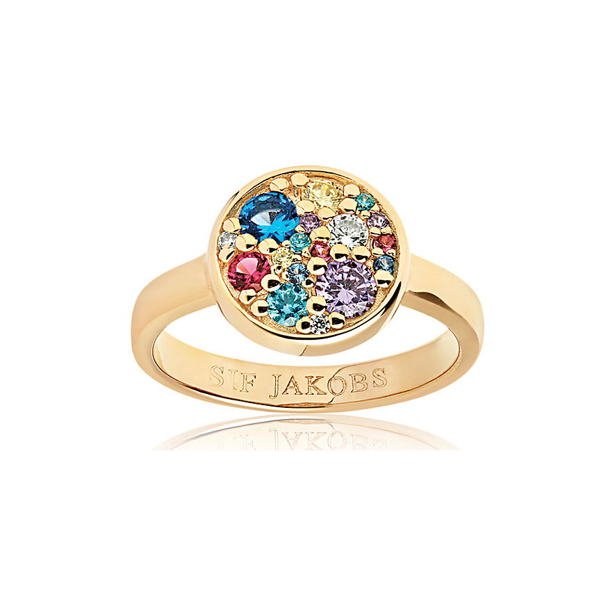 Sif Jakobs Jewellery Damenring Novara SJ-R1056-XCZ(YG)/56