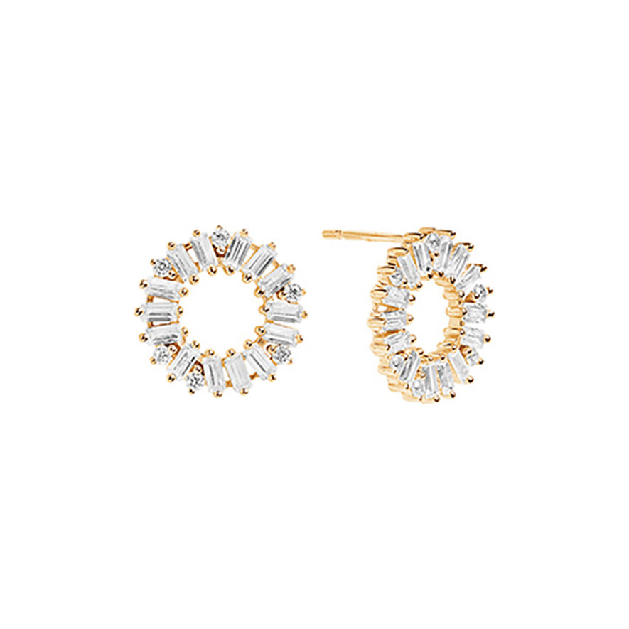 Sif Jakobs Jewellery Ohrstecker Antella Circolo SJ-E0324-CZ-YG