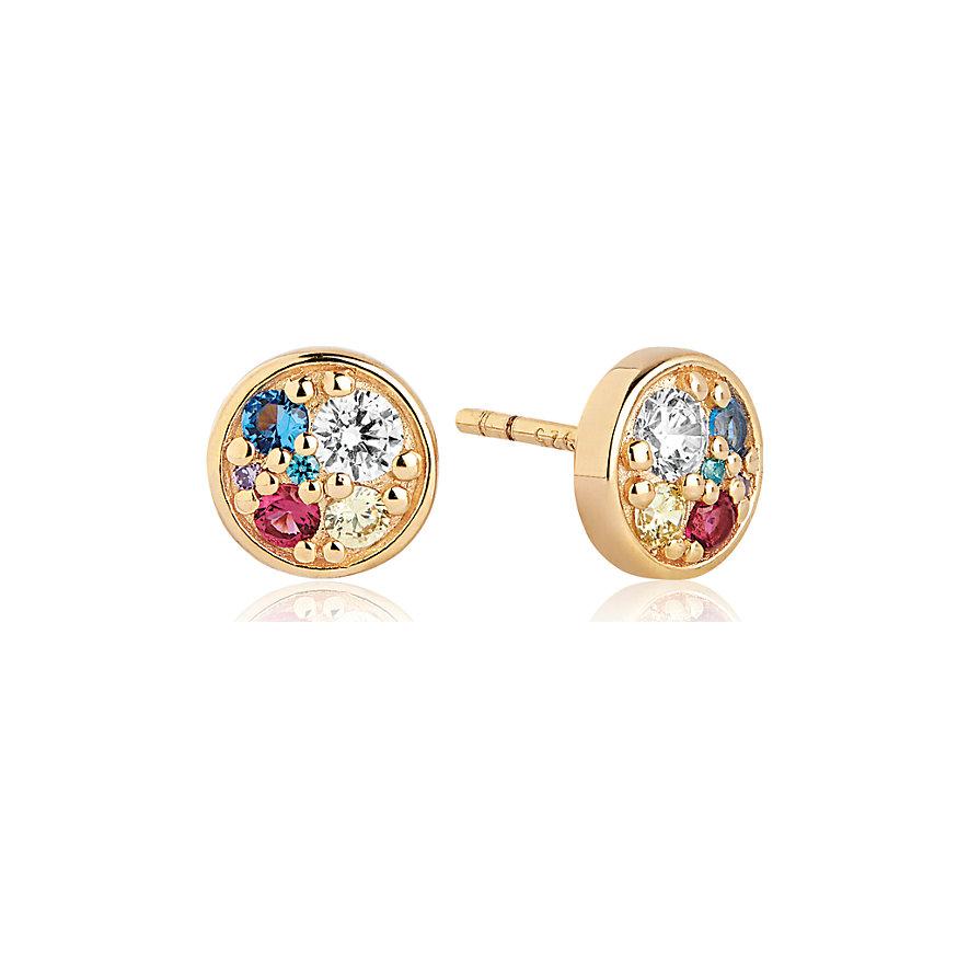 Sif Jakobs Jewellery Ohrstecker Novara Piccolo SJ-E1055-XCZ(YG)