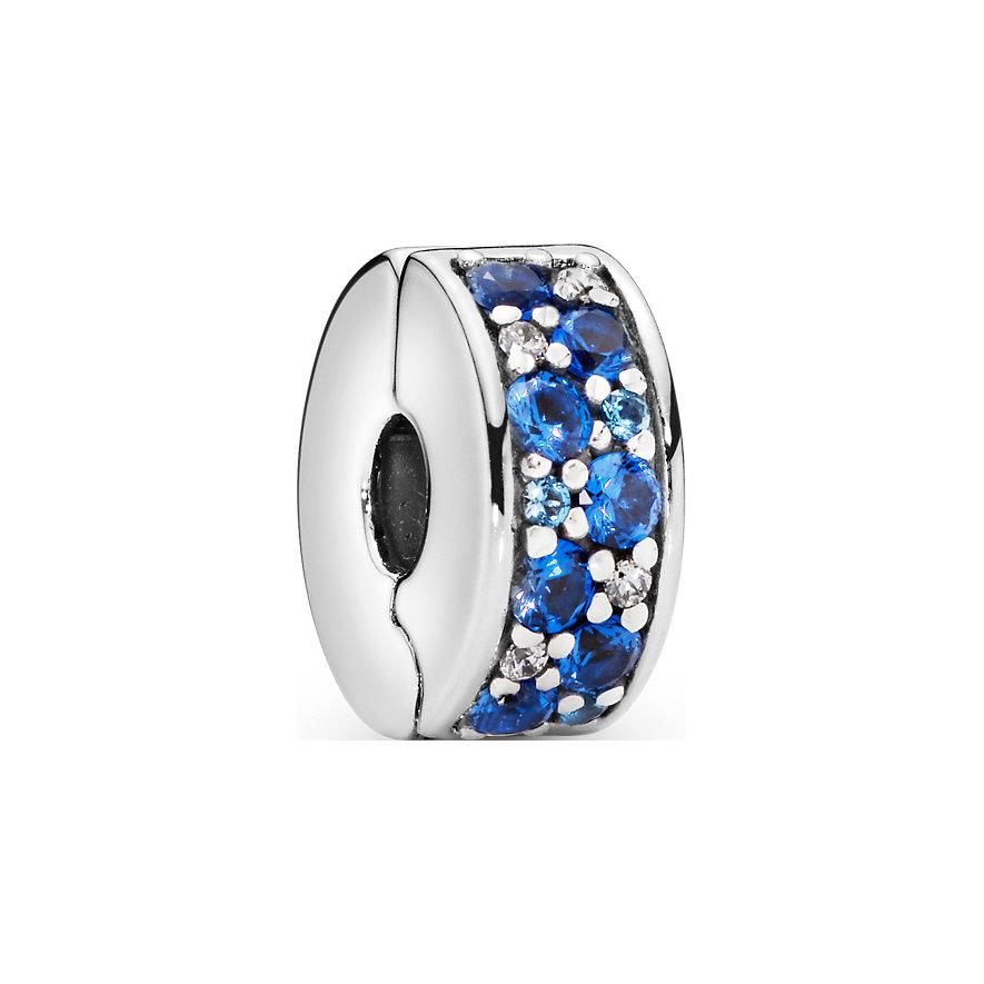 Pandora Charm Colours Blauer Pavé-Clip 791817NSBMX