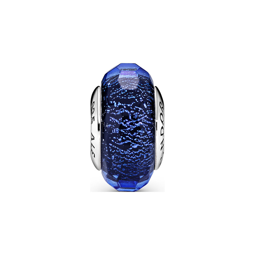 Pandora Charm Colours Facettiertes Blaues Murano-Glas 791646