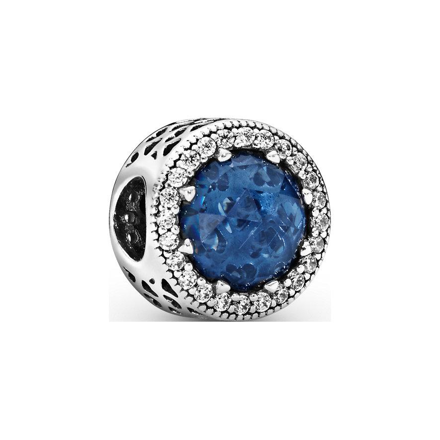 Pandora Charm Colours Funkelnd Dunkel Blau 791725NMB