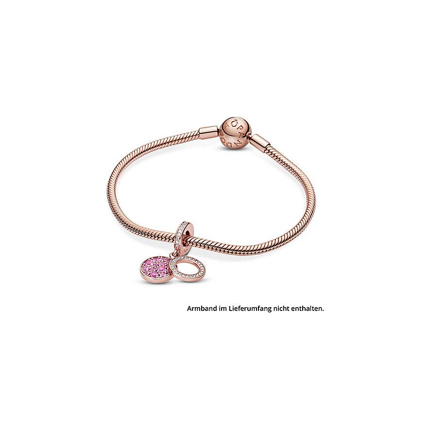 Pandora Charm Colours Funkelnde rosafarbene Scheibe 789186C02