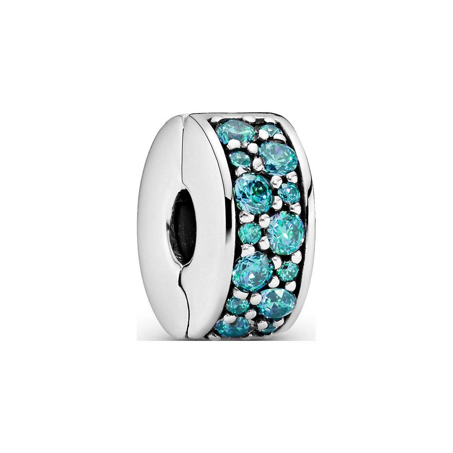 Pandora Charm Colours Petrolfarbener Pavé-Clip 791817MCZ
