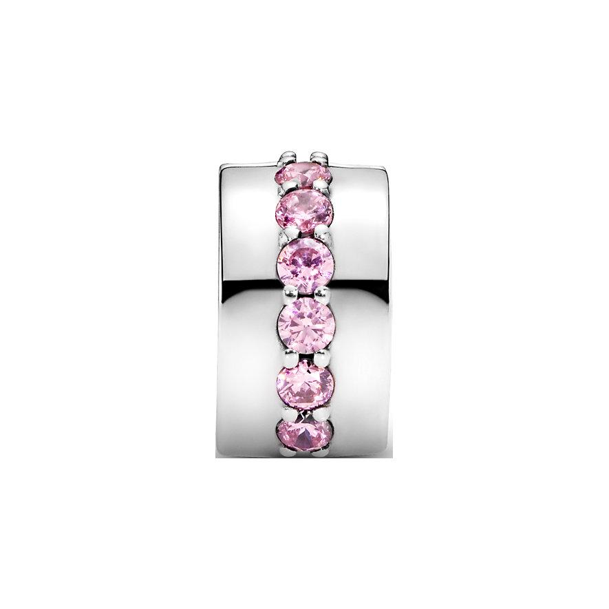 Pandora Charm Colours Rosafarbene funkelnde Linie Clip 791972PCZ