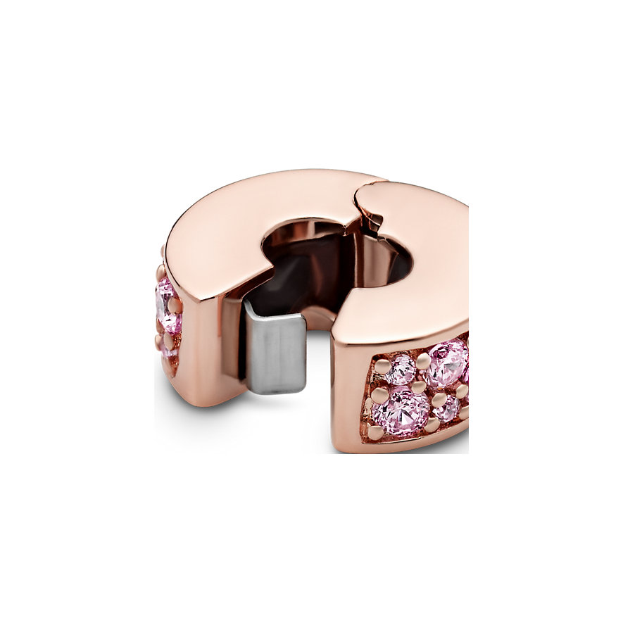 Pandora Charm Colours Rosafarbener Pavé Clip 781817PCZ