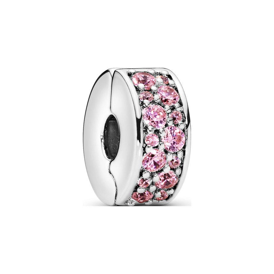 Pandora Charm Colours Rosafarbener Pavé Clip 791817PCZ