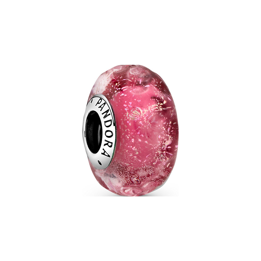 Pandora Charm Colours Wellenförmiges lachsfarbenes Murano-Glas 798872C00
