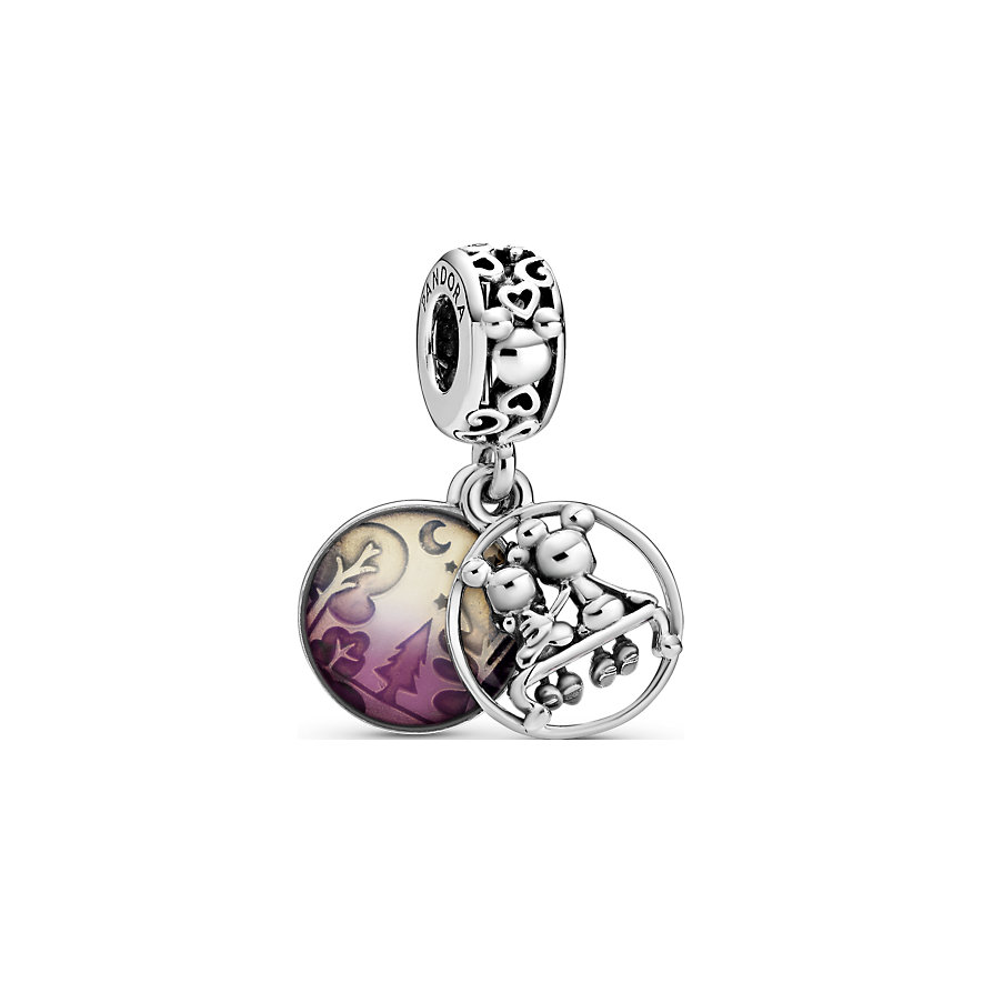 """Pandora Charm Disney x Pandora Micky Maus und Minnie Maus """"Glücklich und zufrieden"""" 798866C01"""
