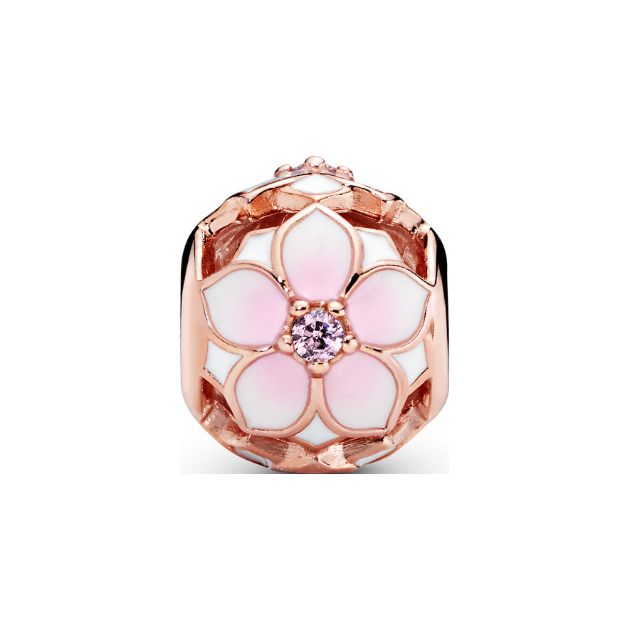 Pandora Charm Garden Offen gearbeitete Rosafarbene Magnolienblüte 782087NBP