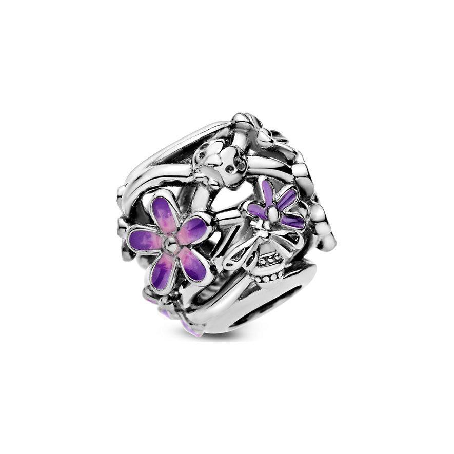 Pandora Charm Garden Offen gearbeitetes, lilafarbenes Gänseblümchen 798772C02