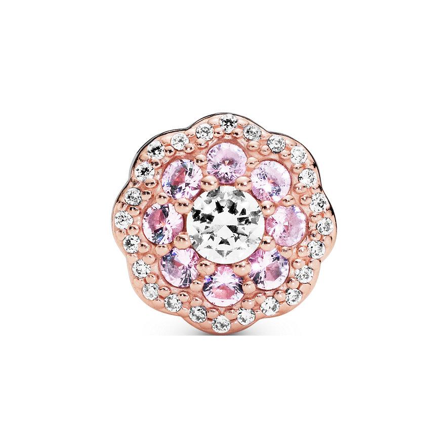 Pandora Charm Garden Rosafarbene funkelnde Blume 787851NPM