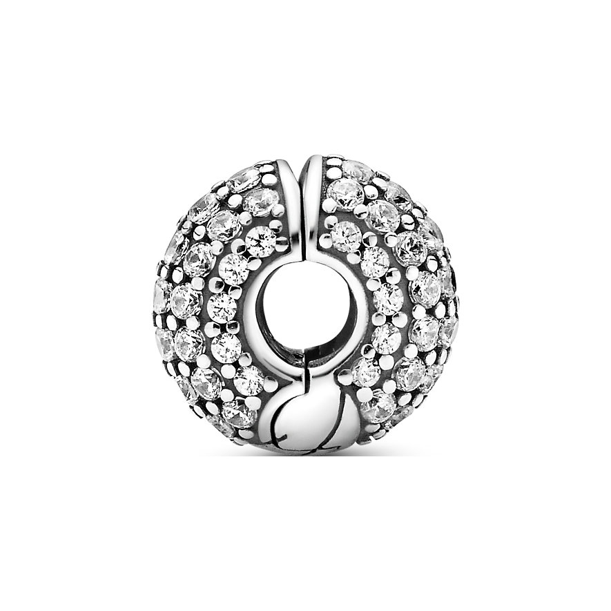 Pandora Charm Icons Pavé-Clip mit Schlangengliedermuster 799089C01