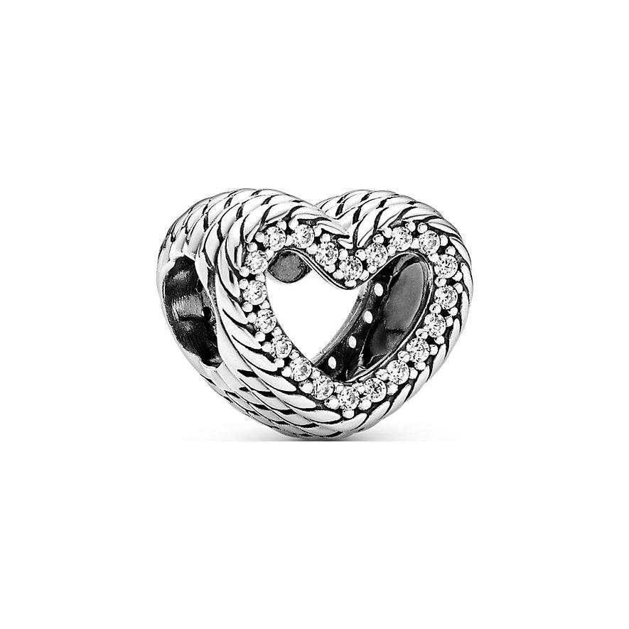 Pandora Charm Icons Schlangengliedermuster Offenes Herz 799100C01