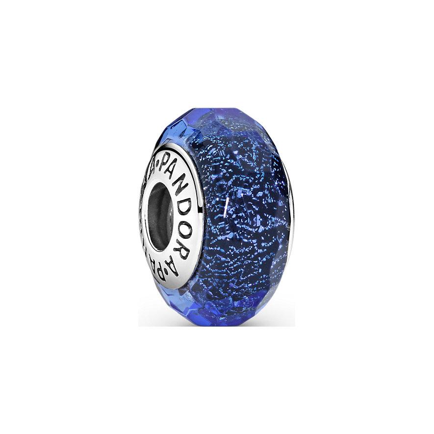 Pandora Charm Moments Facettiertes Blaues Murano-Glas 791646