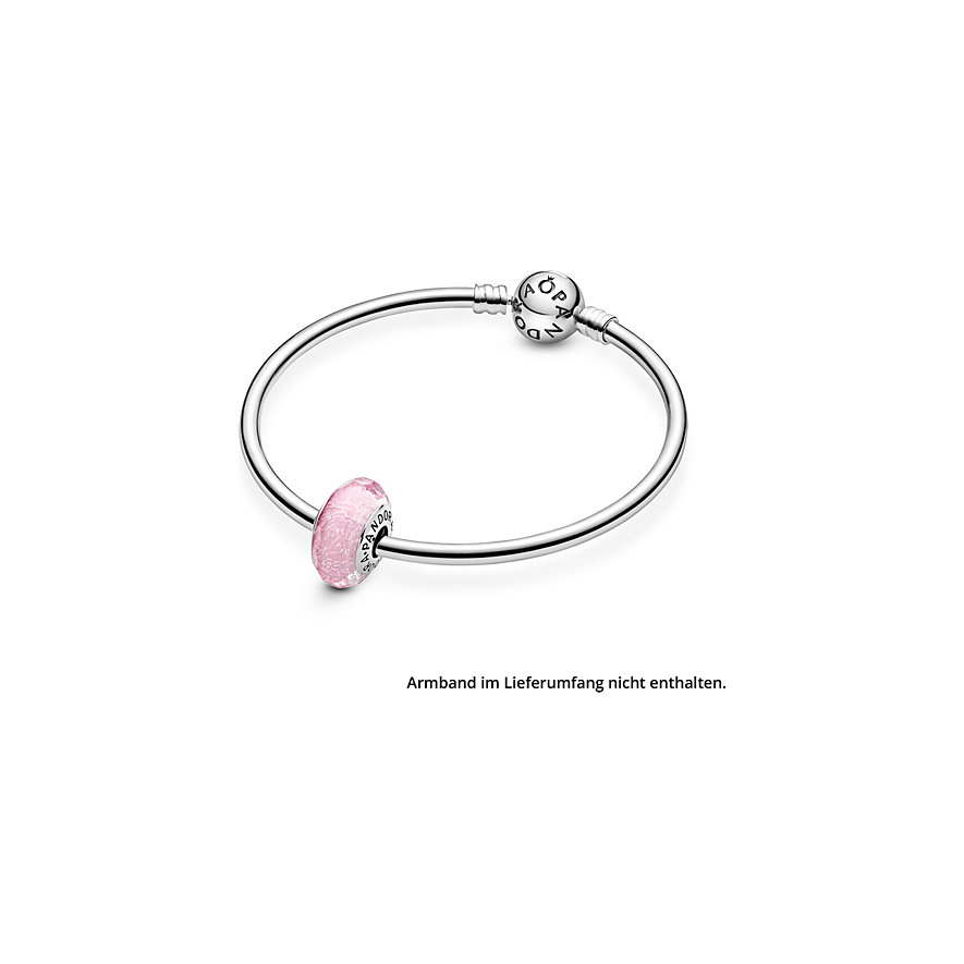 Pandora Charm Moments Facettiertes rosafarbenes Murano-Glas 791650