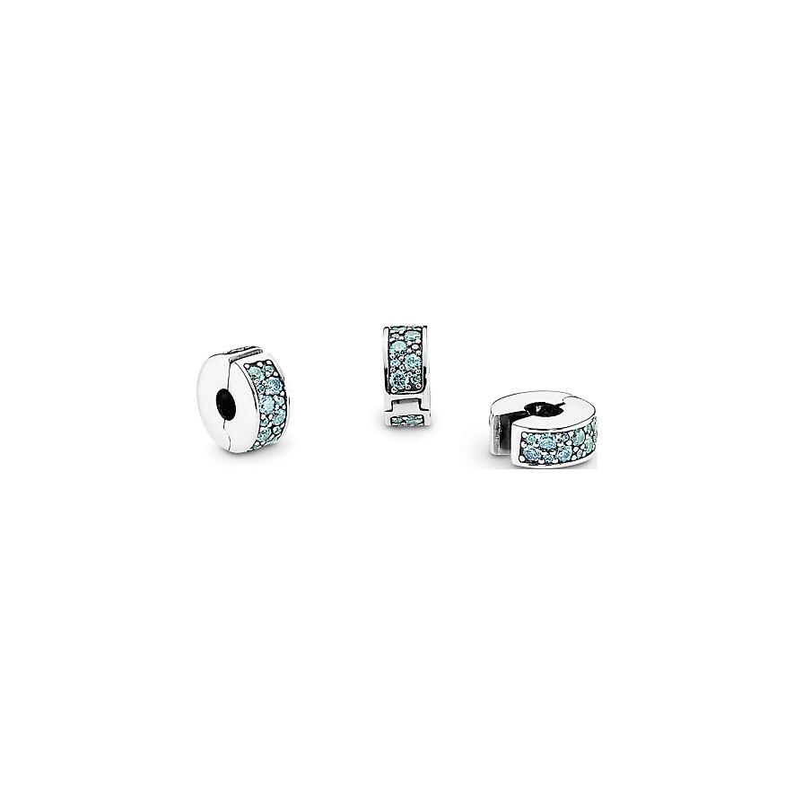 Pandora Charm Moments Petrolfarbener Pavé-Clip 791817MCZ