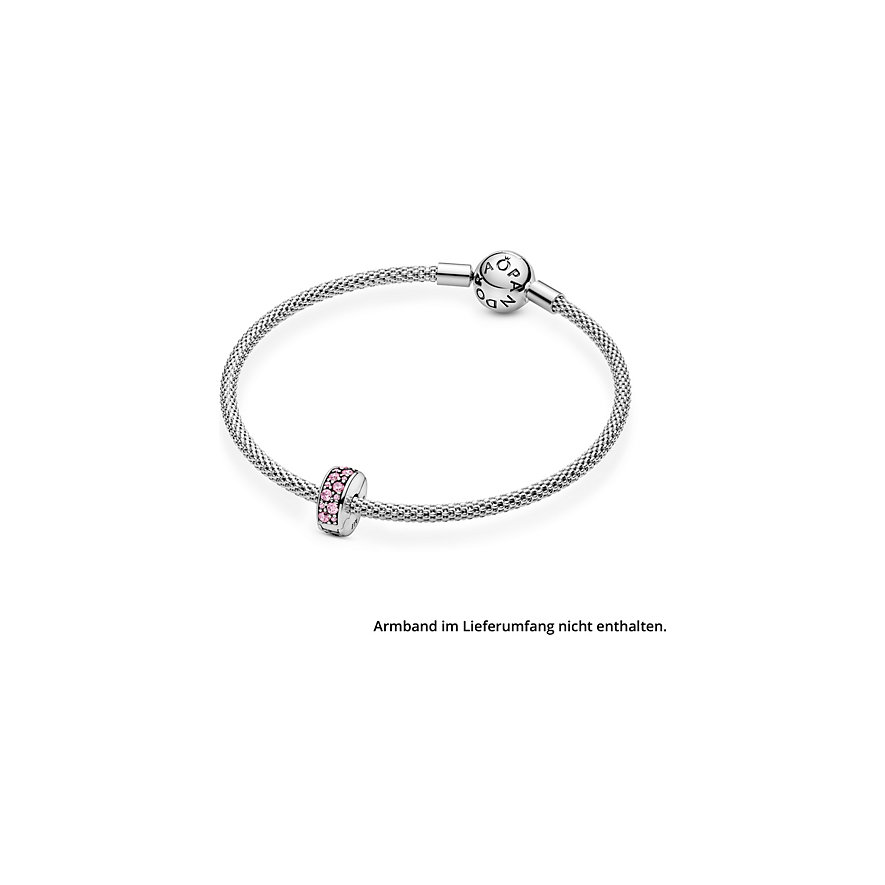 Pandora Charm Moments Rosafarbener Pavé Clip 791817PCZ