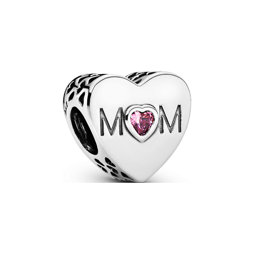 Pandora Charm Moments Rosafarbenes Mum-Herz 791881PCZ
