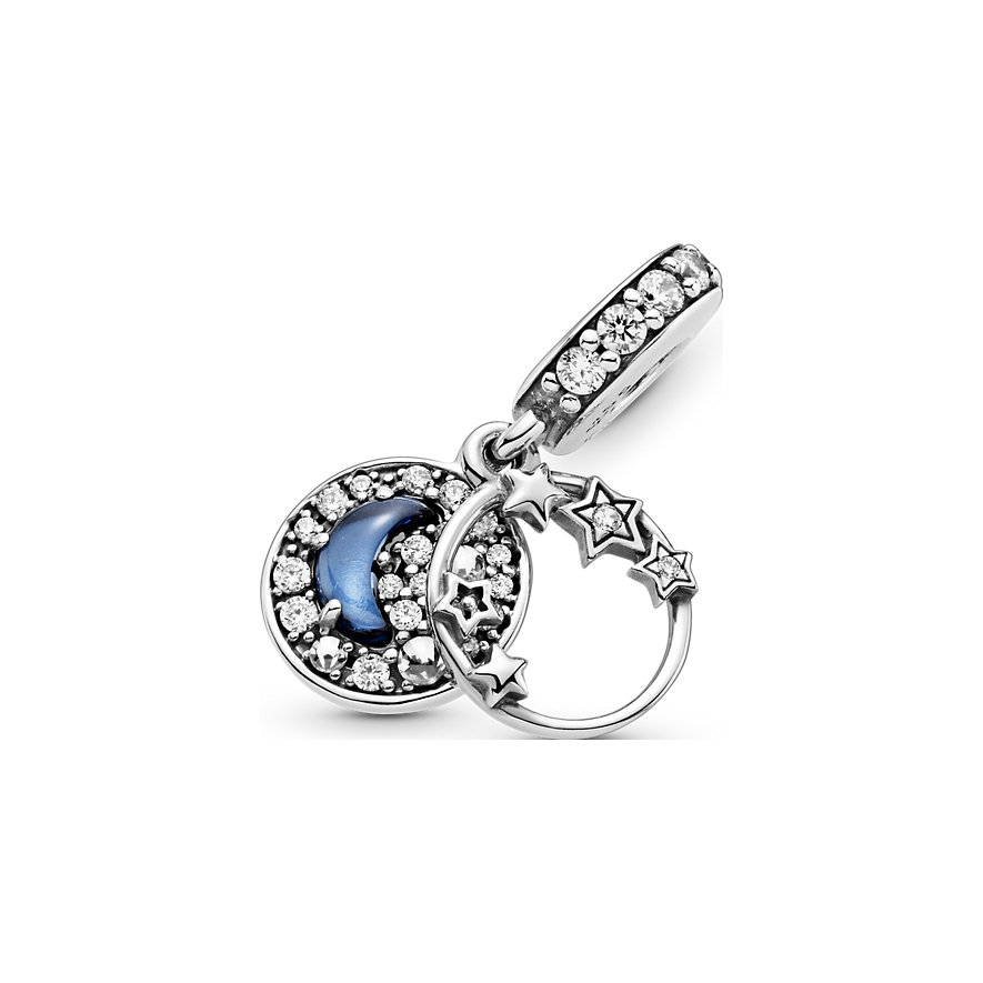 Pandora Charm Passions Blauer Nachthimmel Halbmond & Sterne 799216C01