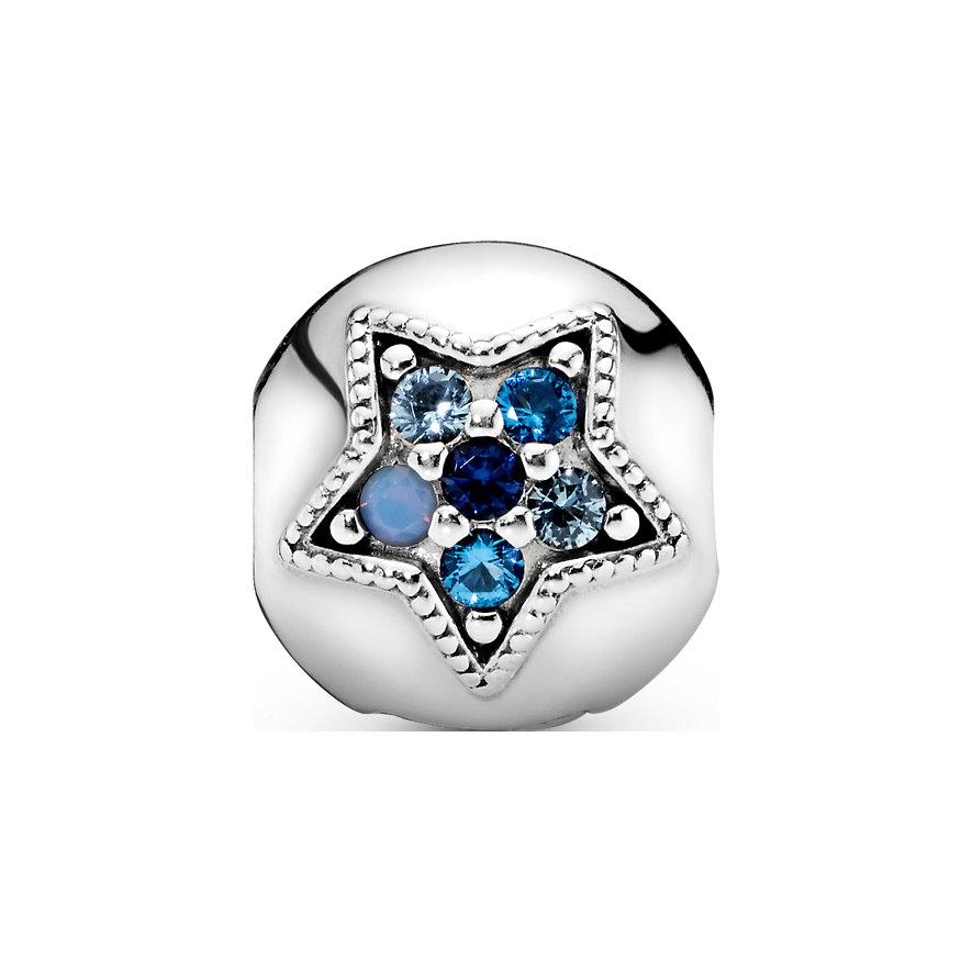 Pandora Charm Passions Leuchtend Blauer Stern Clip 796380NSBMX