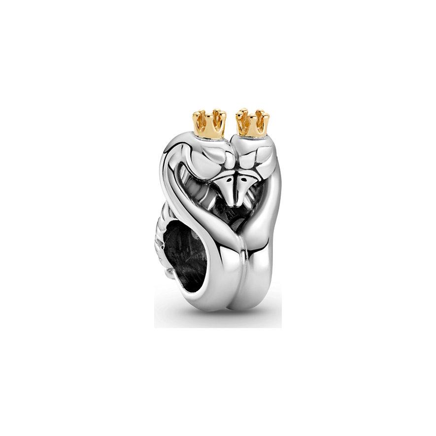 Pandora Charm Passions Zweifarbiges Schwäne & Herz 799315C00