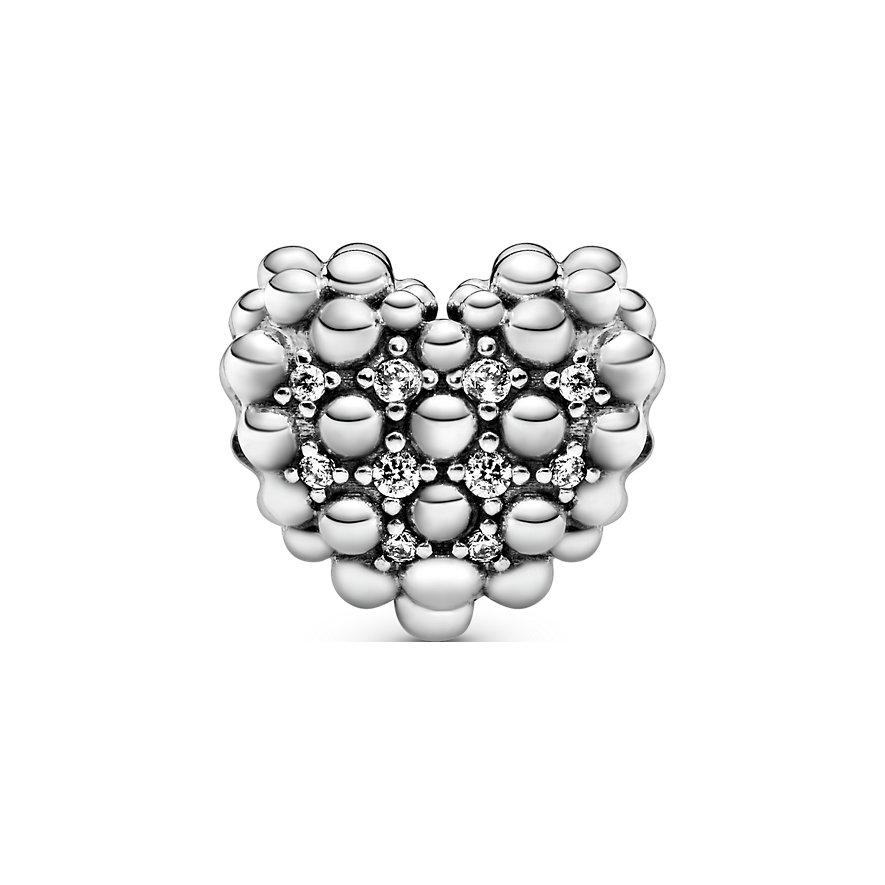 Pandora Charm Purely Pandora Funkelndes Metallperlen-Herz 798681C01