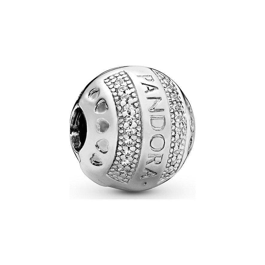 Pandora Charm Signature Logo runder Clip 797433CZ