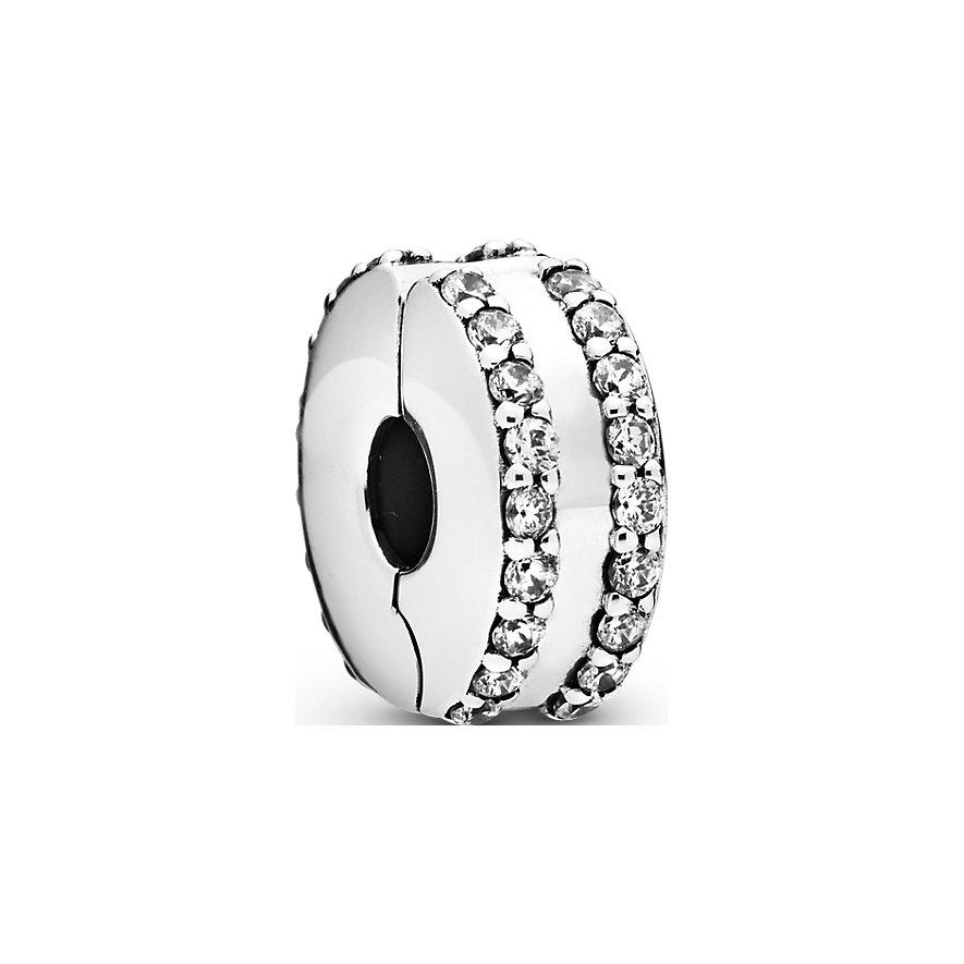 Pandora Charm Timeless Zweireihiger Pavé Clip 798422C01