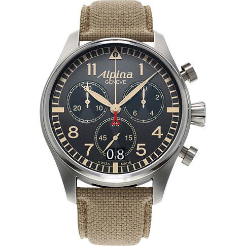 Alpina Chronograph Startimer Pilot Big Date AL-372BGR4S6