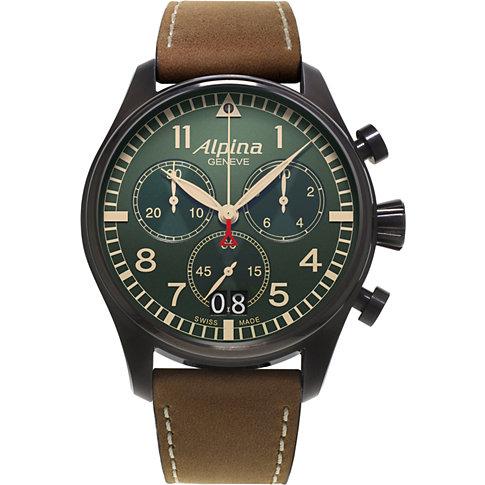 Alpina Chronograph Startimer Pilot Big Date AL-372GR4FBS6