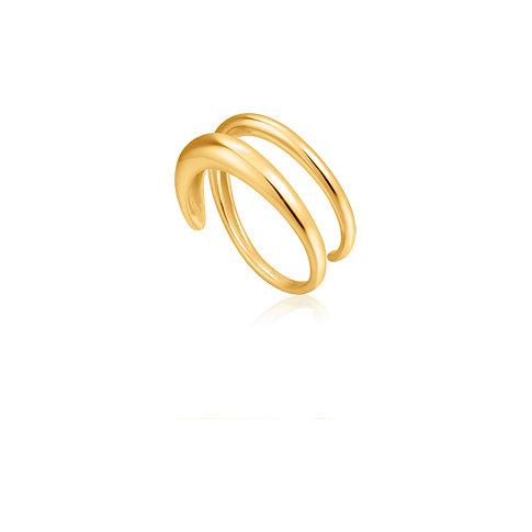 Ania Haie Damenring Luxe Twist Ring R024-02G