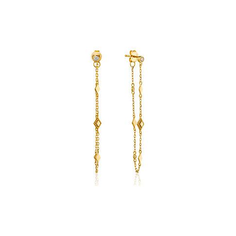 Ania Haie Ohrhänger Bohemia Chain Stud Earrings E016-04G